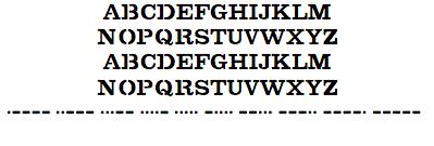Kryptos Sculpture Document TrueType Font
