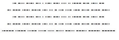Kryptos Sculpture Morse Code TrueType Font